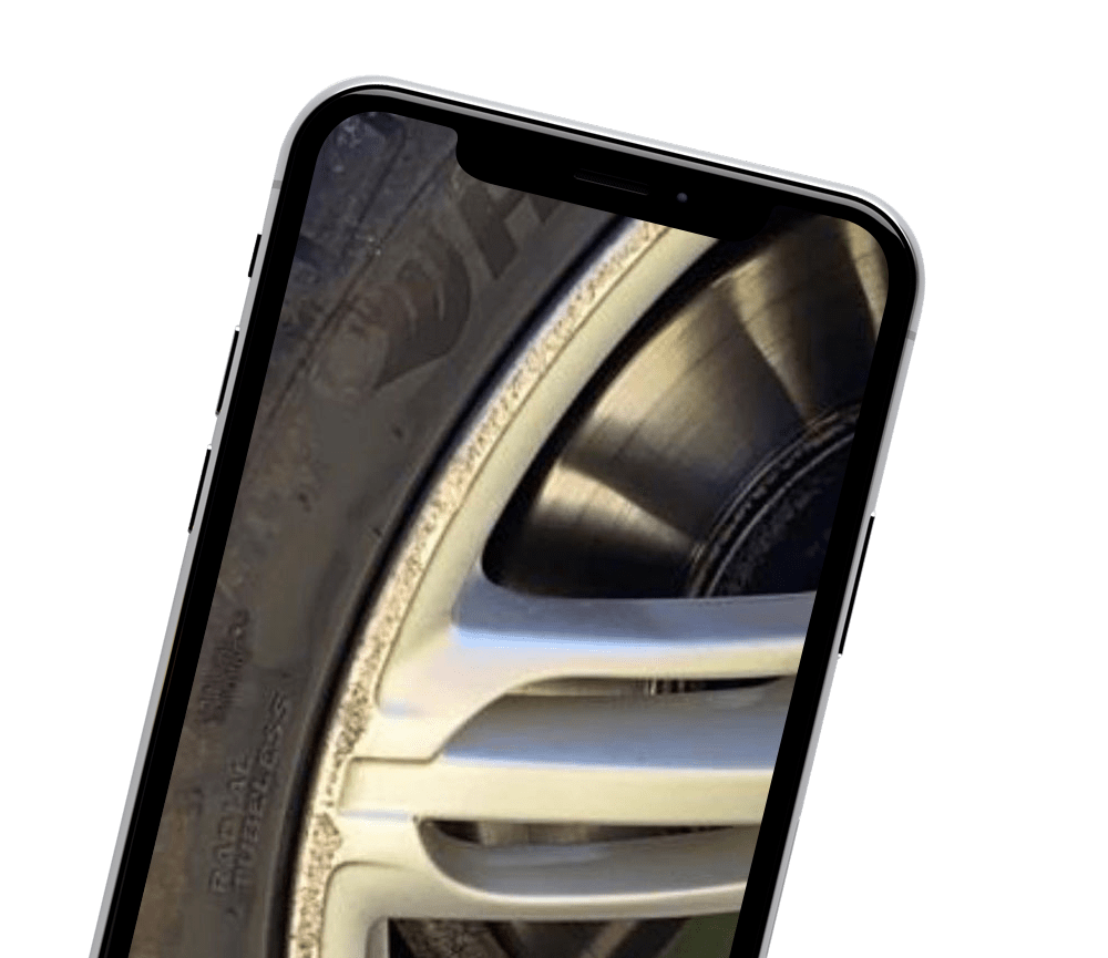 Send examples of your alloy wheel damage to Topgun